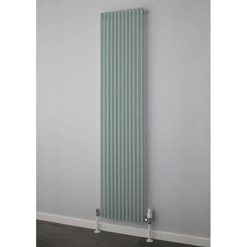 Additional image for Chaucer Single Vertical Radiator 1820x504mm (Traffic Grey).