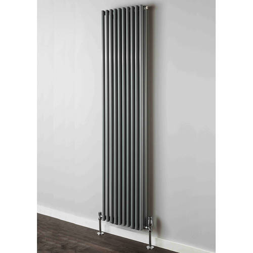 Additional image for Chaucer Double Vertical Radiator 1820x504mm (Traffic Grey).