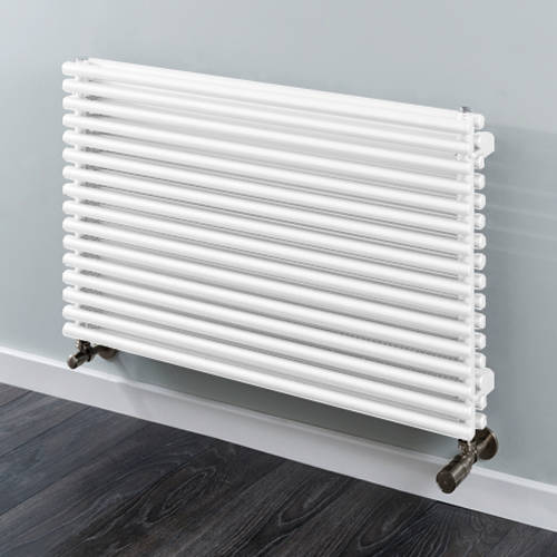 Additional image for Chaucer Double Horizontal Radiator 402x920mm (White).