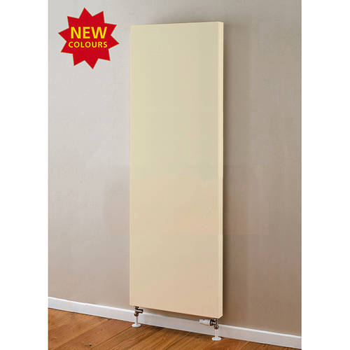 Additional image for Faraday Vertical Radiator 1600x600mm (P+, Light Ivory, 6633 BTUs).