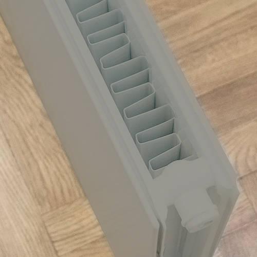 Additional image for Faraday Vertical Radiator 1600x600mm (P+, Window Grey, 6633 BTUs).