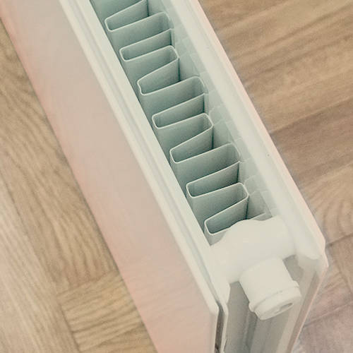 Additional image for Faraday Vertical Radiator 1600x600mm (P+, Silk Grey, 6633 BTUs).
