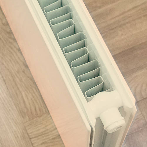 Additional image for Faraday Vertical Radiator 1800x600mm (P+, Light Ivory, 7462 BTUs).