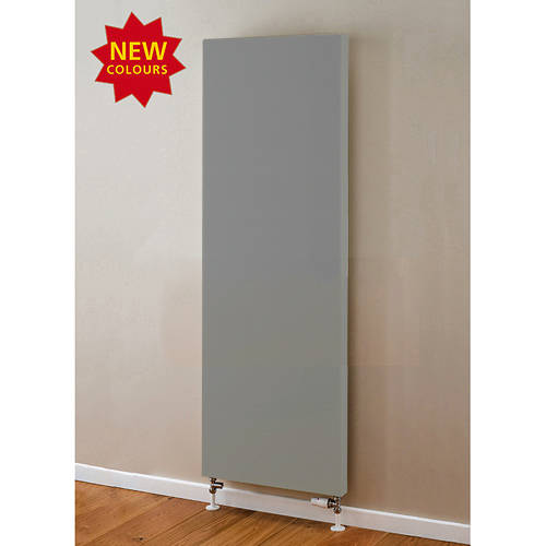 Additional image for Faraday Vertical Radiator 1800x600mm (P+, Window Grey, 7462 BTUs).