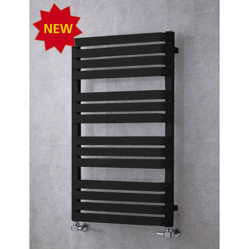 Additional image for Heated Towel Rail & Wall Brackets 1110x500 (Jet Black).