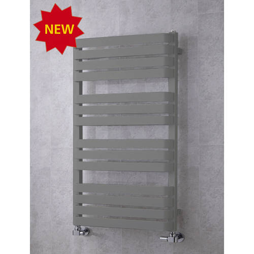 Additional image for Heated Towel Rail & Wall Brackets 1110x500 (Grey Aluminium).