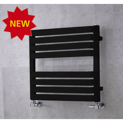 Additional image for Heated Towel Rail & Wall Brackets 655x500 (Jet Black).