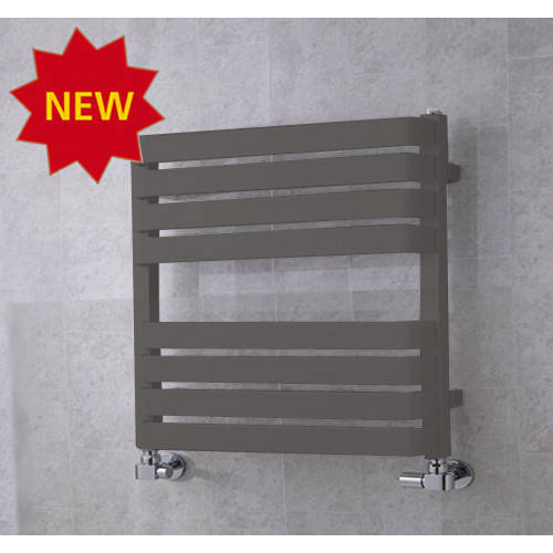 Additional image for Heated Towel Rail & Wall Brackets 655x500 (Grey Aluminium).