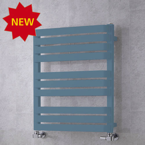 Additional image for Heated Towel Rail & Wall Brackets 785x500 (Pastel Blue).