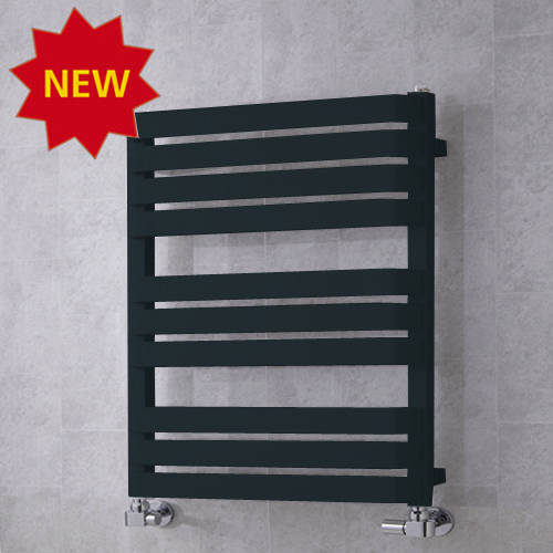 Additional image for Heated Towel Rail & Wall Brackets 785x500 (Anthracite Grey).