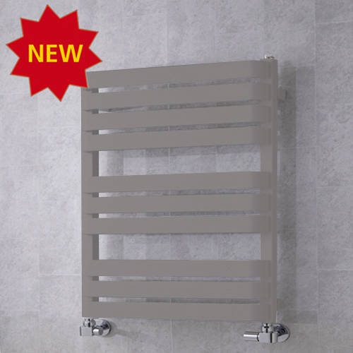 Additional image for Heated Towel Rail & Wall Brackets 785x500 (Grey Aluminium).