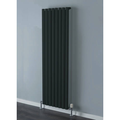 Additional image for Tallis Single Vertical Radiator 1820x300mm (Jet Black).