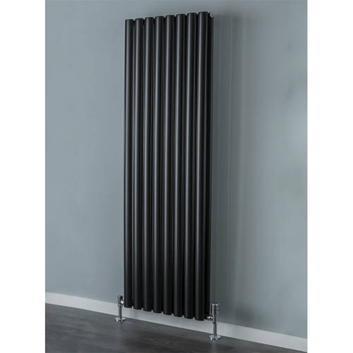 Additional image for Tallis Double Vertical Radiator 1820x300mm (Jet Black).