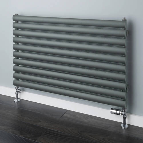 Additional image for Tallis Horizontal Radiator 420x1520mm (Traffic Grey A, 2446 BTUs).