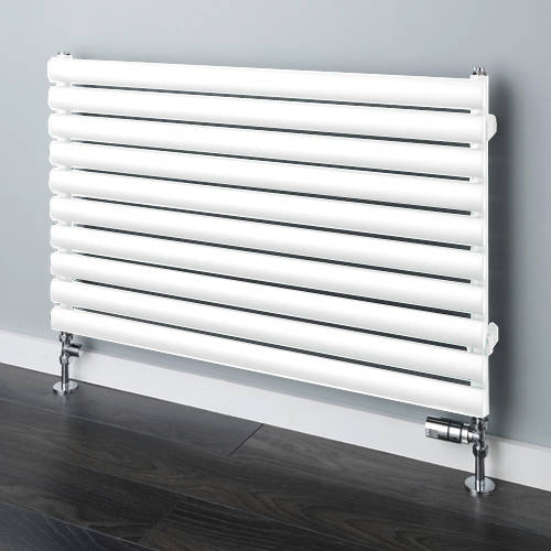 Additional image for Tallis Horizontal Radiator 600x1220mm (White, 2706 BTUs).