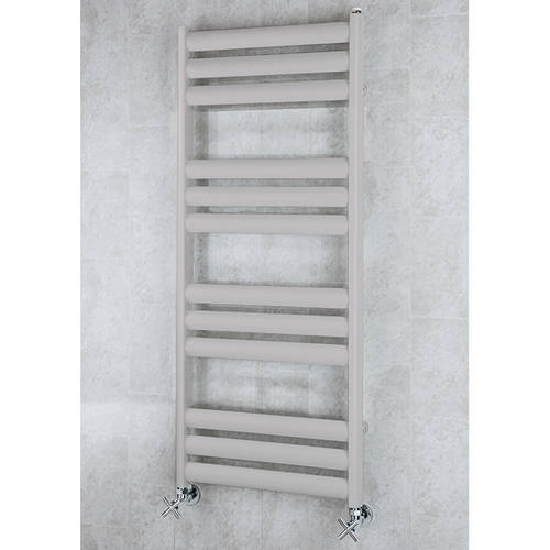 Additional image for Heated Ladder Rail & Wall Brackets 1060x500 (White Alumin).