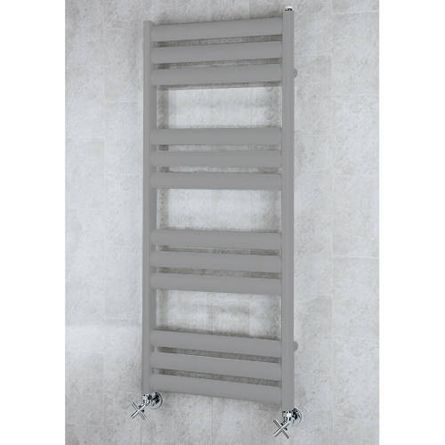 Additional image for Heated Ladder Rail & Wall Brackets 1060x500 (Grey Aluminium).