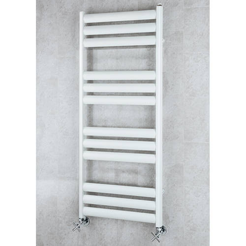 Additional image for Heated Ladder Rail & Wall Brackets 1060x500 (White).