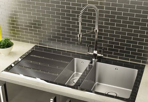 Additional image for Silhouette 150 Kitchen Sink 1000x535mm (S Steel, LH).