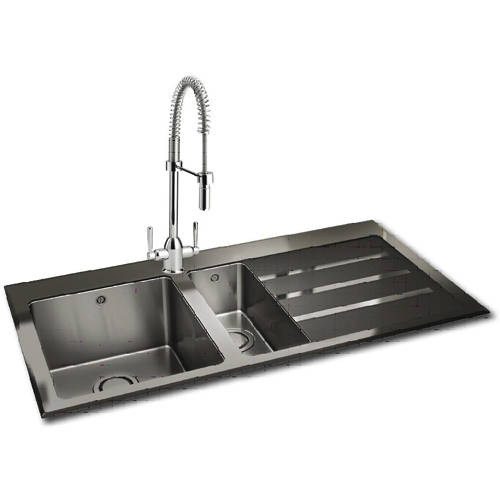 Additional image for Silhouette 150 Kitchen Sink 1000x535mm (S Steel, RH).