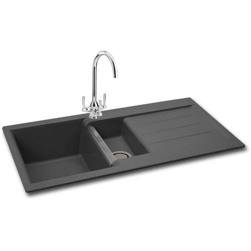 Additional image for Java 150 Double Bowl Granite Sink 1000x510mm (Graphite).