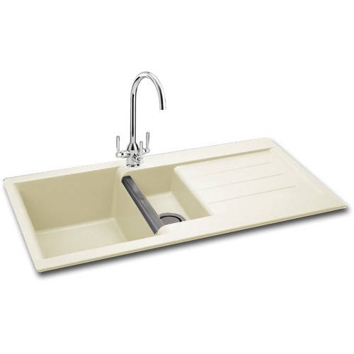Additional image for Java 150 Double Bowl Granite Sink 1000x510mm (Champagne).
