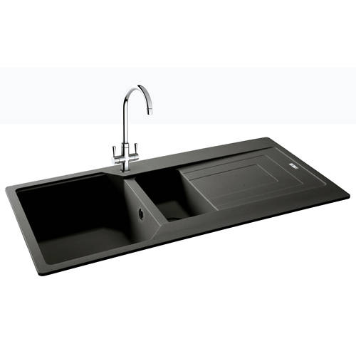 Additional image for Aruba Double Bowl Granite Sink 1000x500mm (Graphite).