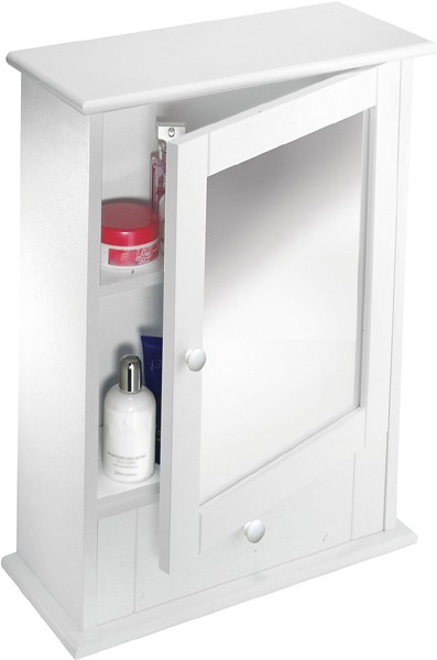 Additional image for Mirror Bathroom Cabinet With Drawer.  450x600x160mm.
