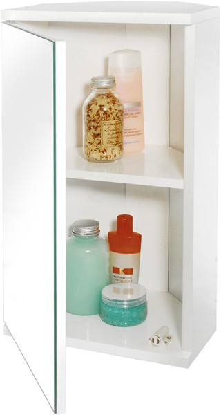 Additional image for Corner Bathroom Cabinet With Mirror. 300x500x140mm.
