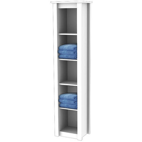 Additional image for Ribble Tall Boy Bathroom Cabinet.  330x1500x268mm.