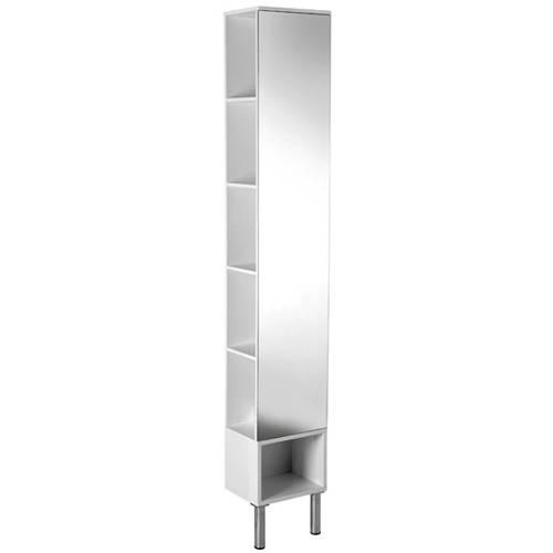 Additional image for Irwell Tall Boy Mirror Bathroom Cabinet.  300x1800x220mm.