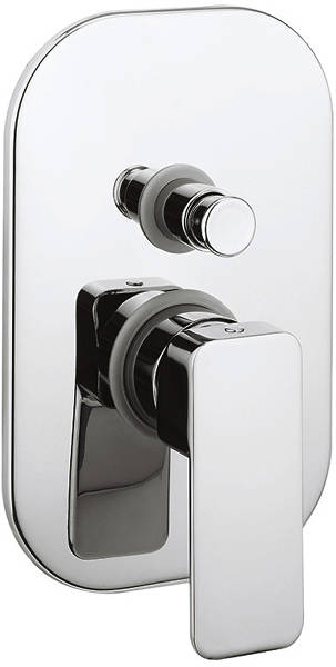 Additional image for Manual Shower Valve With Diverter (Chrome).