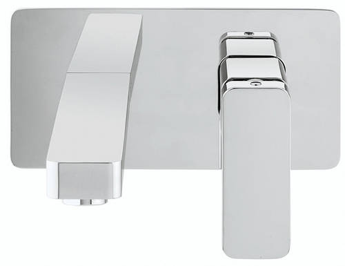Additional image for Wall Mounted Basin Mixer Tap With Lever Handle.