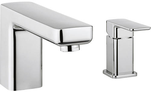 Additional image for 2 Hole Bath Shower Mixer Tap With Lever Handle (Chrome).