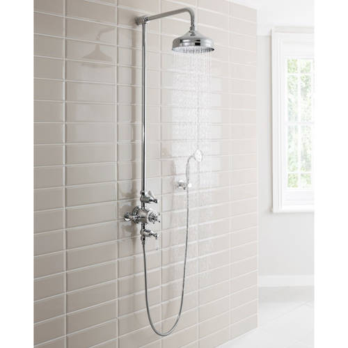 Additional image for Thermostatic 2 Outlet Shower Kit (Chrome).