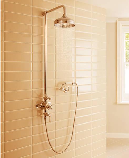 Additional image for Thermostatic 2 Outlet Cradle Shower Kit (U Brass).