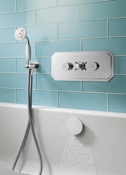 Additional image for Belgravia Thermostatic Shower & Bath Valve (2 Outlets).