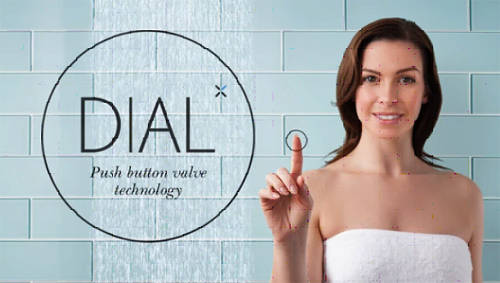 Additional image for Central Push Button Thermostatic Shower Valve (1 Outlet).