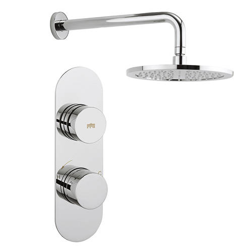 Additional image for Central Thermostatic Shower Valve With Head & Arm (1 Outlet).