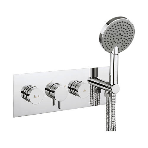 Additional image for Kai Thermostatic Shower & Bath Valve With Handset.