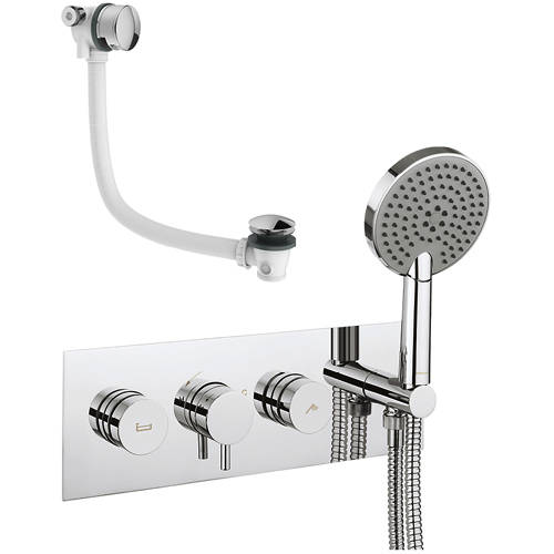 Additional image for Kai Thermostatic Shower & Bath Valve, Handset & Filler.