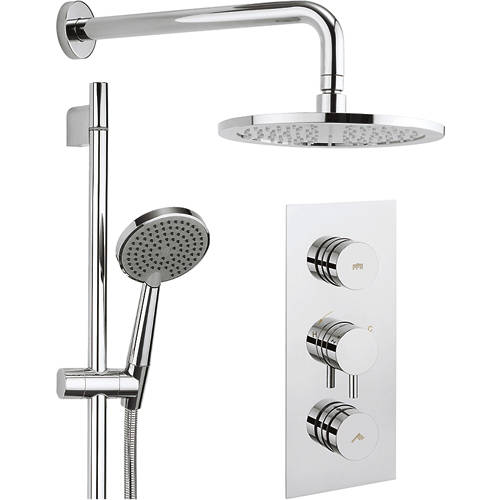 Additional image for Kia Thermostatic Shower Valve With Head, Arm & Handset.