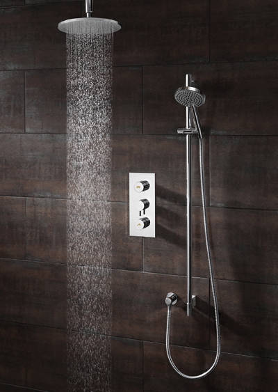 Additional image for Kai Push Button Thermostatic Shower Valve (2 Outlets).