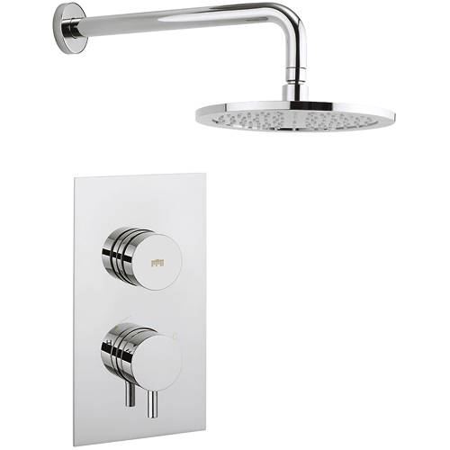 Additional image for Kai Thermostatic Shower Valve With Head & Arm (1 Outlet).