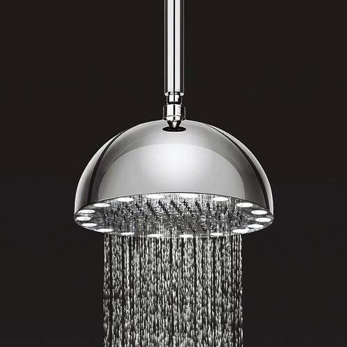 Additional image for Dynamo Round Shower Head & LED Lights (300mm).