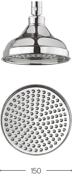 Additional image for 150mm Round Shower Head (Chrome).