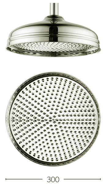 Additional image for 300mm Round Shower Head (Nickel).