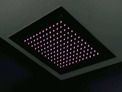 Additional image for Ceiling Mounted Square LED Shower Head 380x380mm.