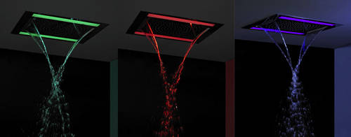 Additional image for Rio Revive Shower Head & LED Lights (600x400mm).