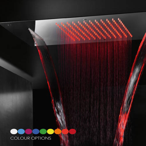Additional image for Multifunction Shower Head With LEDs 380x700mm.
